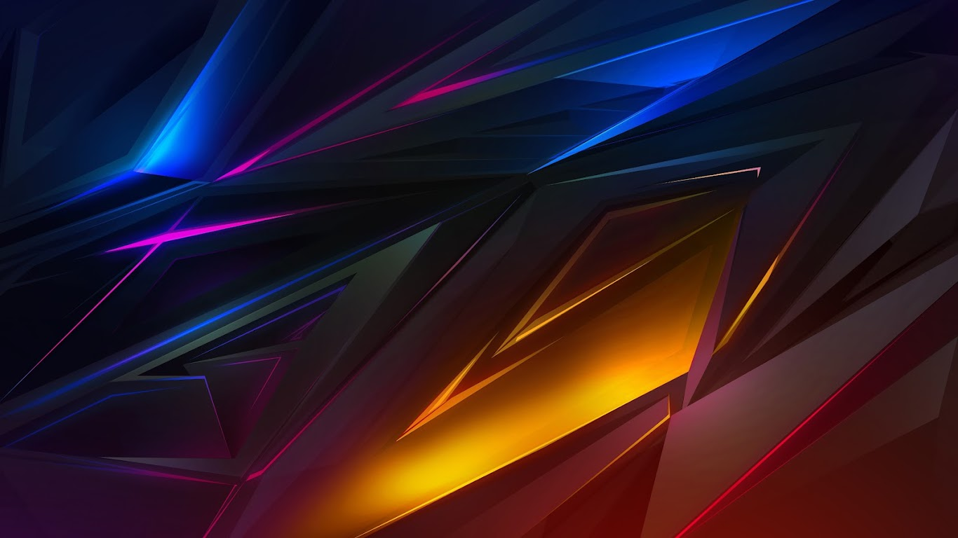 Colorful Dark Abstract Polygon 3D 4K Wallpaper #39
