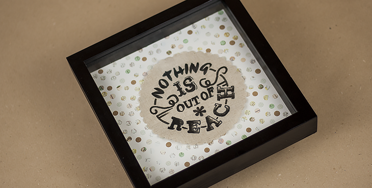 Typografie-Geschenke selber machen (DIY) – das Ergebnis. Foto © fieberherz.de