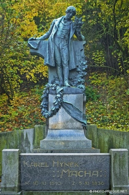 PRAGUE SPOTLIGHT: Mácha Statue At Petřín Hill