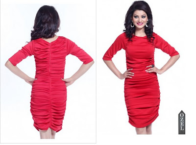 online shopping india for women   Horizontal Pleated Dress d60d99f85