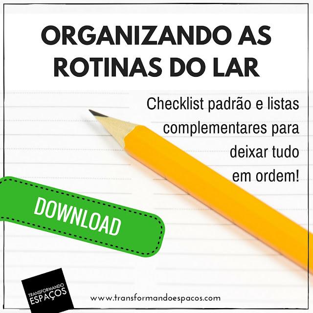 Listas Complementares das Rotinas do Lar