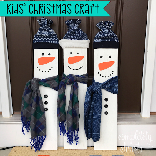 DIY Kids' Snowmen Craft: Perfect for baby's first Christmas