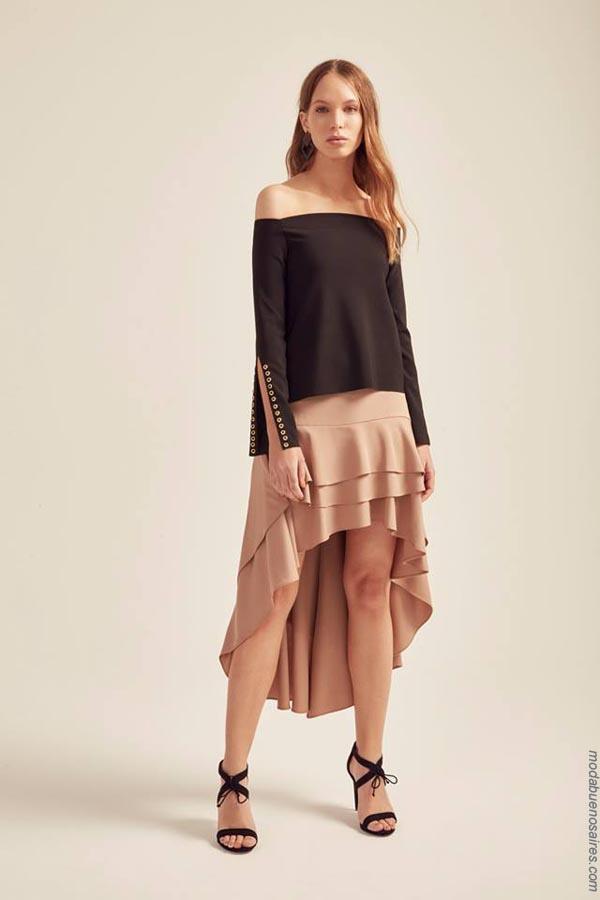 Moda primavera verano 2019 ropa de mujer. Moda verano 2019 blusas y faldas.