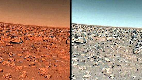 verdadero color marte - Marte. Rojo o Anaranjado
