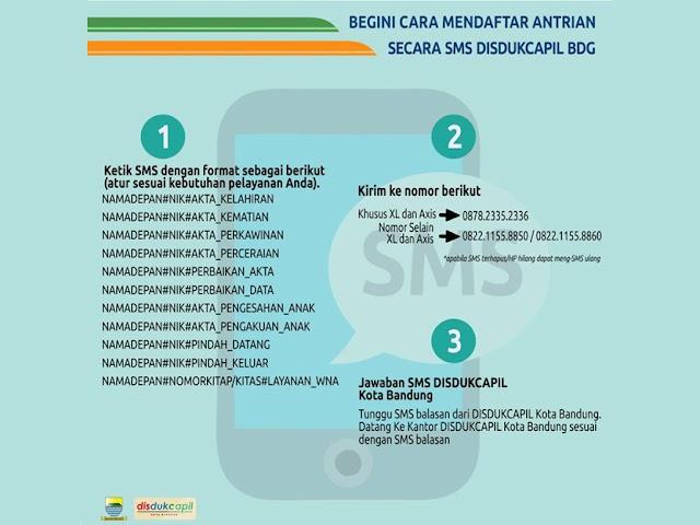 Inilah Nomor SMS Layanan Ambil Antrean Disdukcapil Kota Bandung