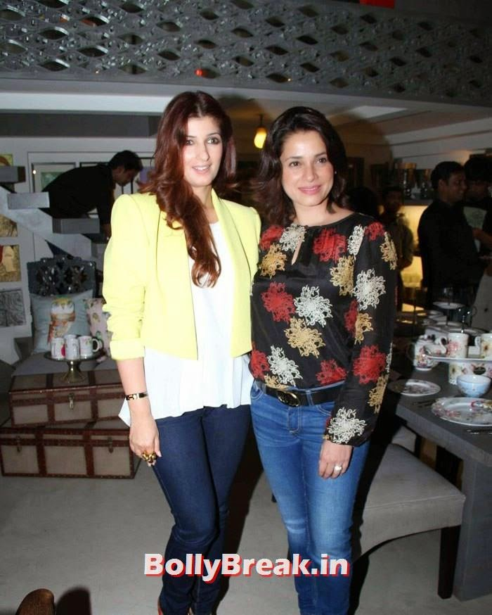Twinkle Khanna, Neelam, Twinkle Khanna at Sanvari & Anjori Alagh's Pop Up Store Launch