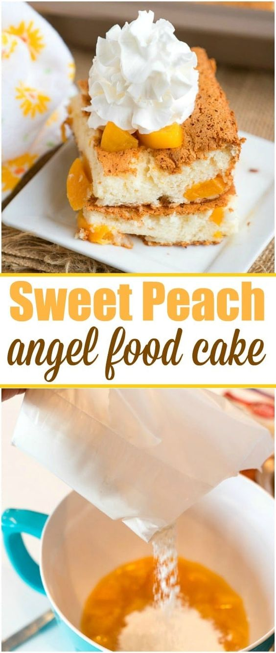 New Peach Angel Food Cake