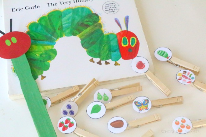 the very hungry caterpillar sequencing idea