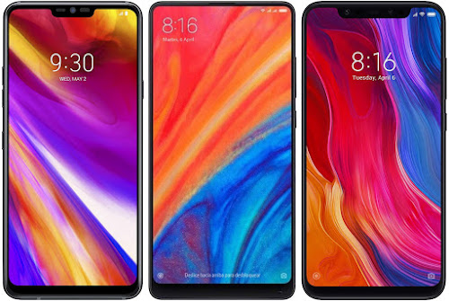 LG G7 ThinQ vs Xiaomi Mi Mix 2s 64G vs Xiaomi Mi 8 64G