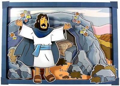 Semana Santa. Última cena y Resurrección de papel
