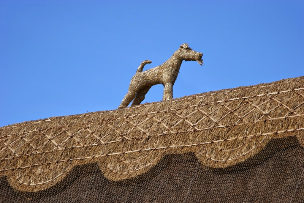 Thatched Roofs And Straw Animals