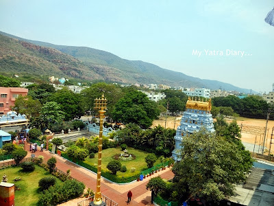 ISKCON Tirupati Guest House view from window, Andhra Pradesh