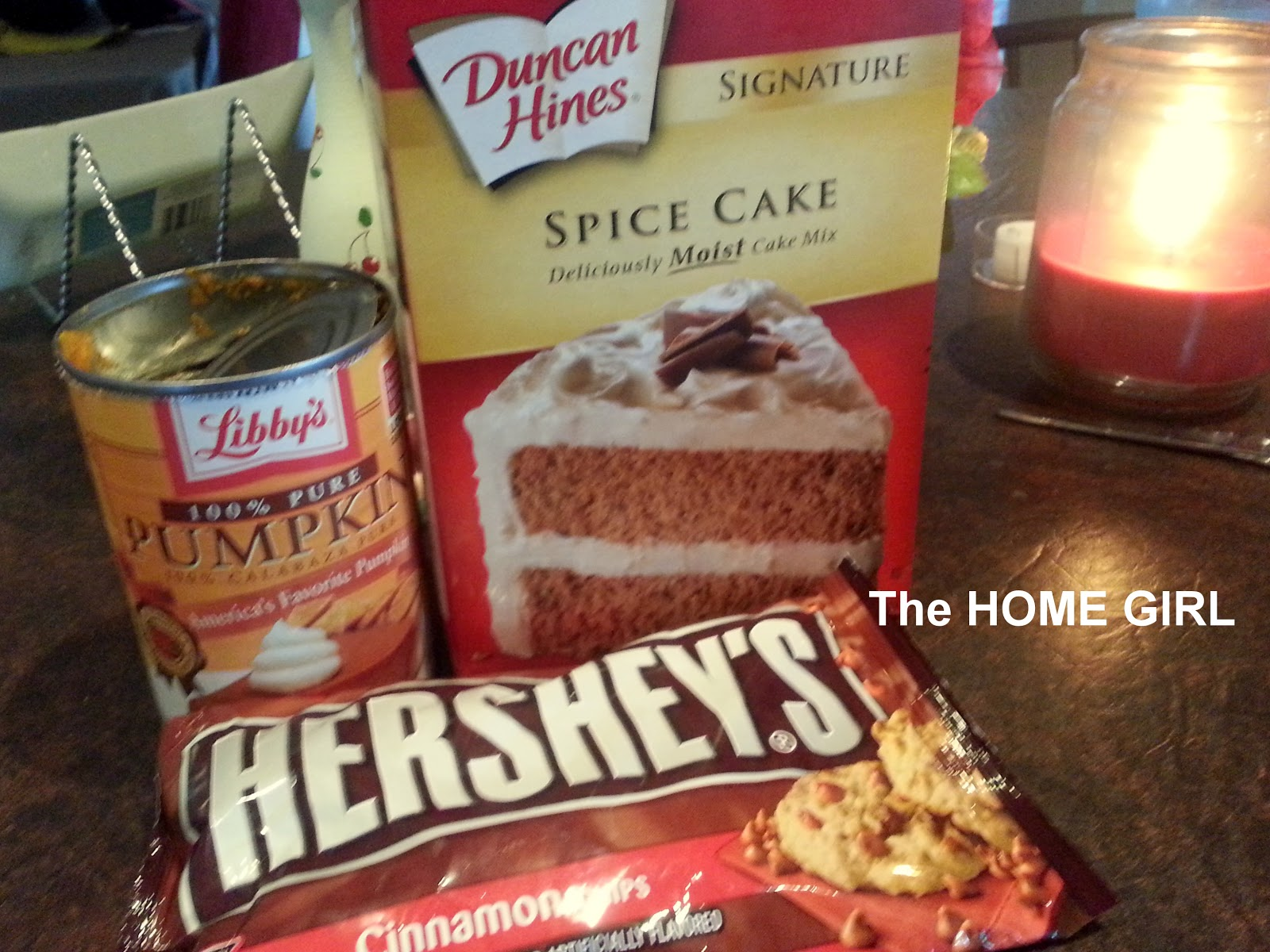 Pumpkin Muffins With Spice Cake Mix And Cinnamon Chips