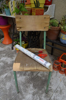 DIY: makeover a Chair of schoolboy