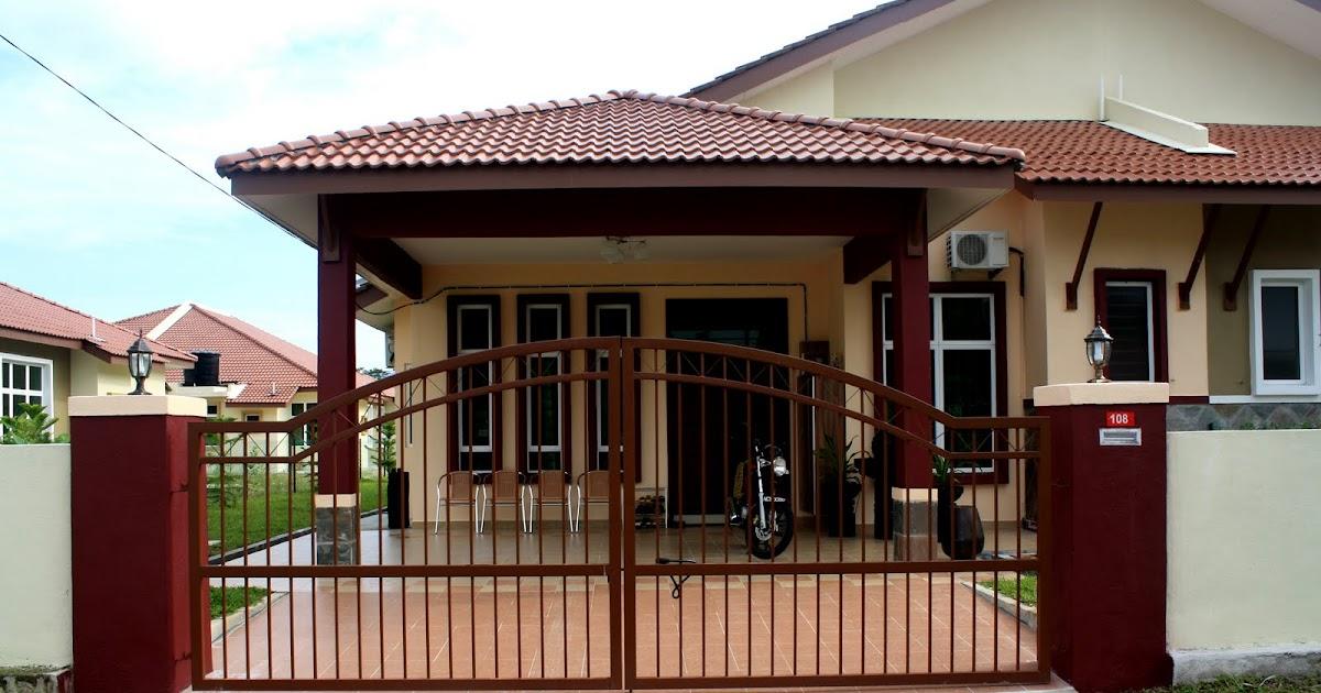 Contoh Rumah Dengan Cat Hijau - Omong q