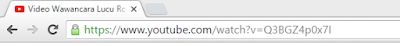 Address bar URL youtube