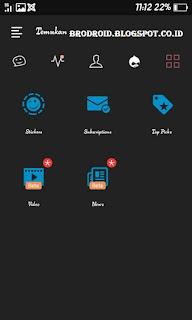 BBM Mod APK Dark FUTION Theme v3.0.1.25 Terbaru