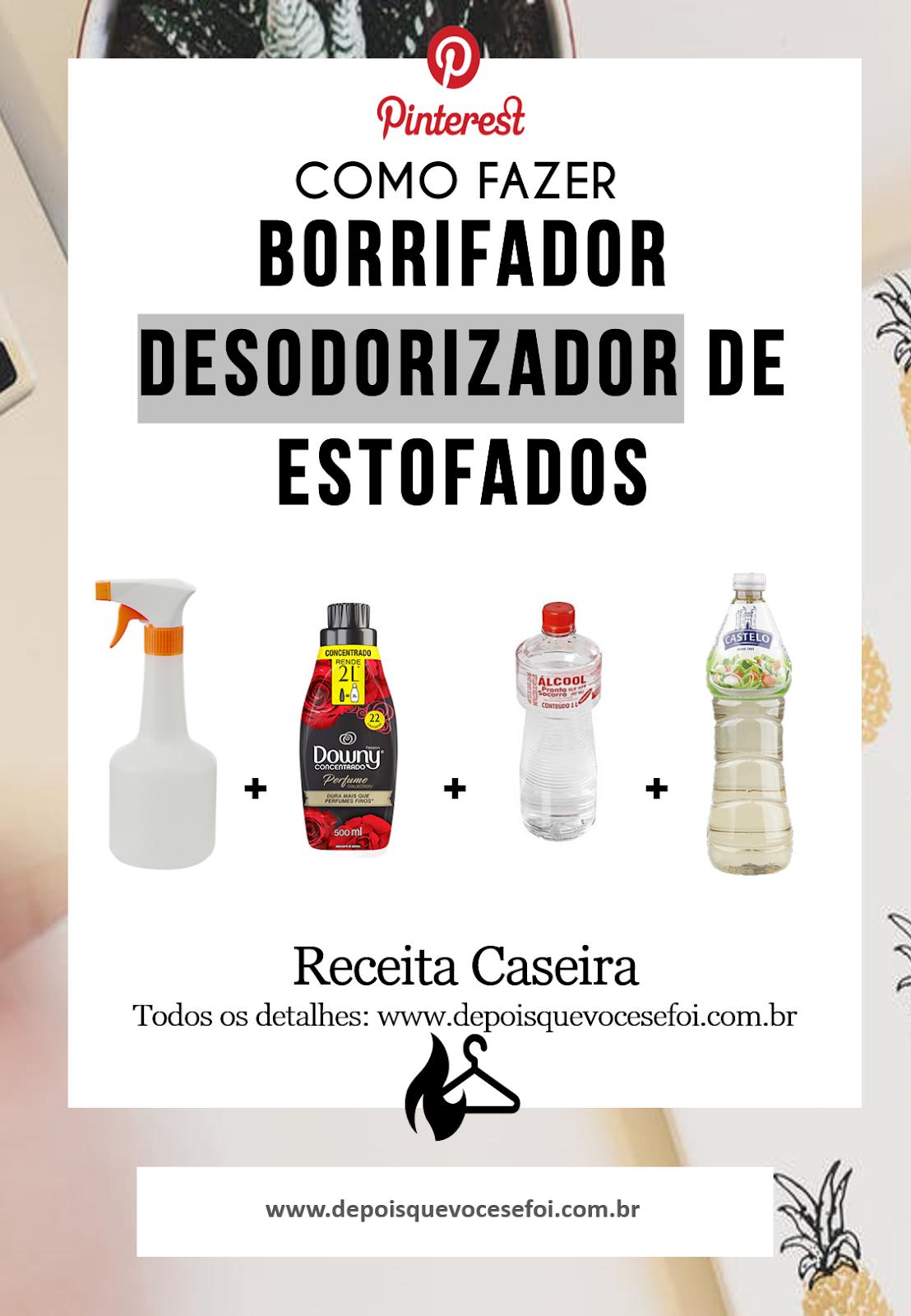 Receita Borrifador Desodorizador de estofados