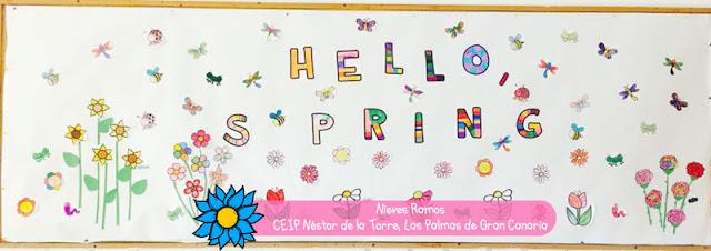 Mural de la primavera de la teacher Nieves Ramos