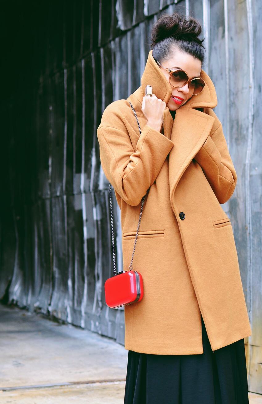 Camel Coat Street Style