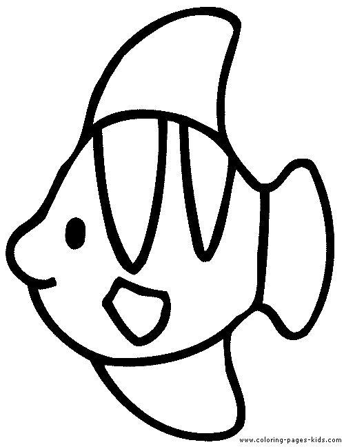 Tranh tô màu con cá cho bé ba tuổi