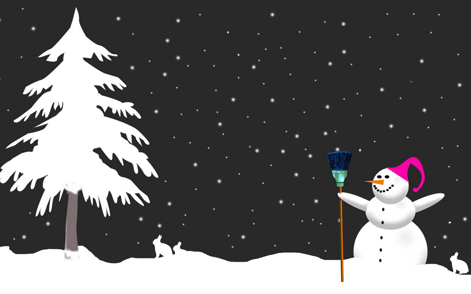 snowman desktop background - photo #16