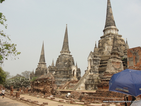 chedis at Wat Phra Sri Sanphet at Ayutthaya Historical Park in Thailand