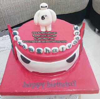 Birthday Cake Baymax Fondant