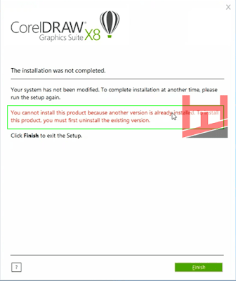 Mengatasi Gagal Install CorelDRAW X8 Terbaru