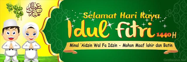 download banner ucapan selamat hari raya idul fitri 1440 H