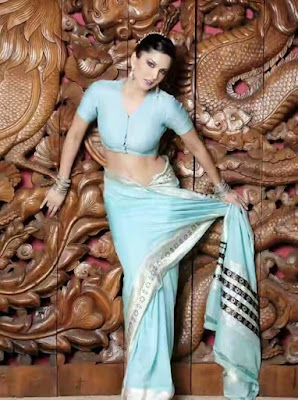 sunny leone saree 4 - Sunny Leone's Extreme Sexiest 3 Collections In Saree even try to show her Booms-SUNNY LEONE ka SEXY
