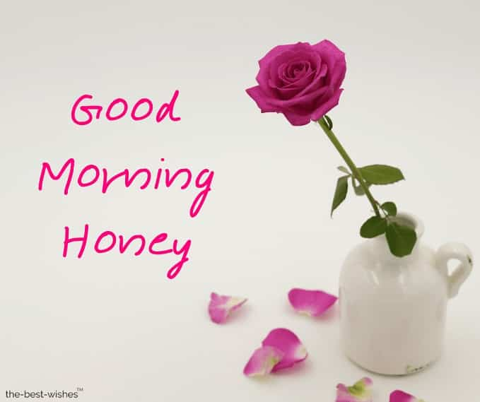 good morning honey wishes pictures