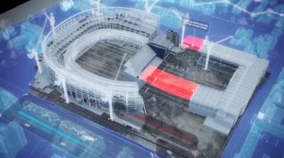 New stadium construction animation