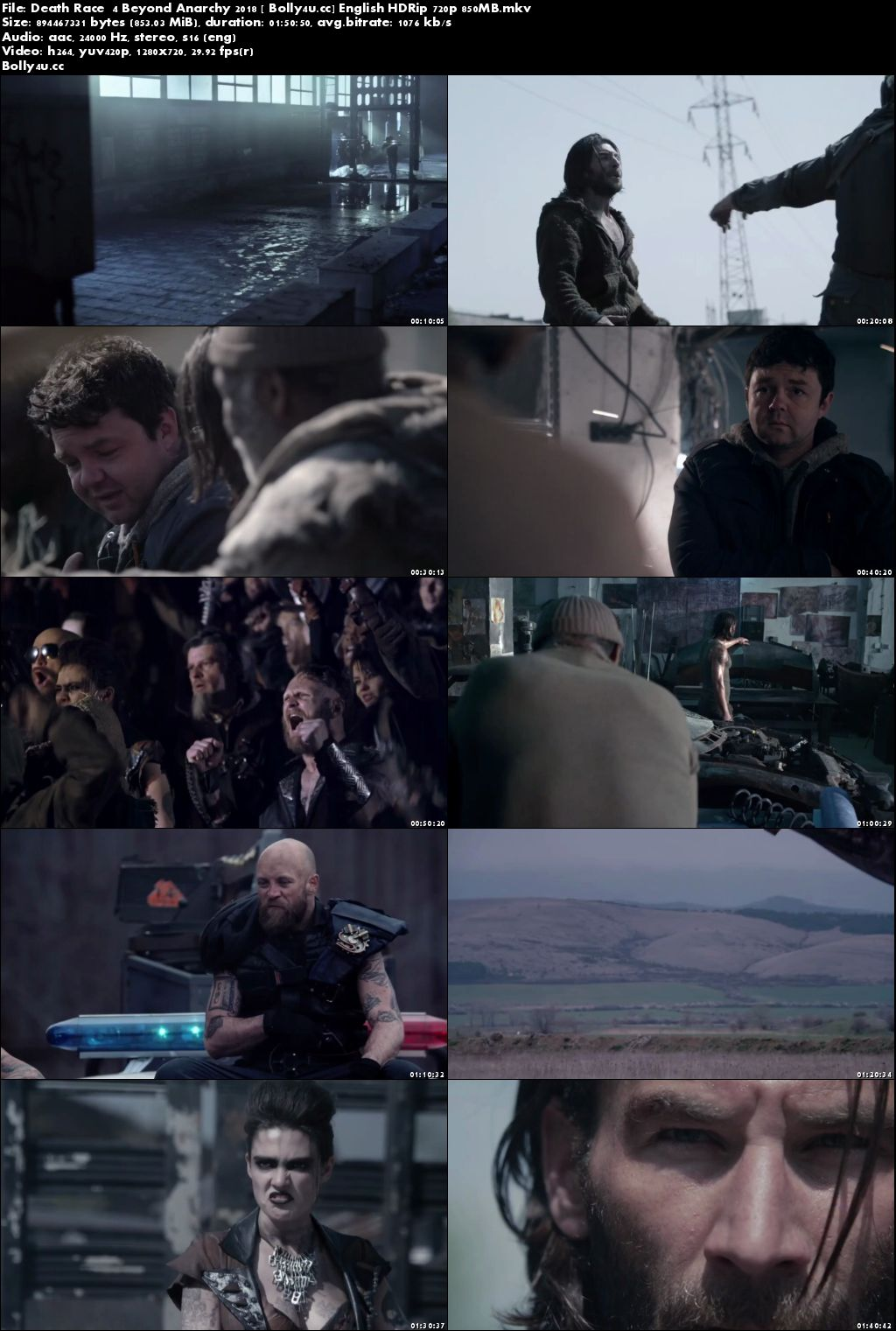 Death Race 4 Beyond Anarchy 2018 HDRip 350MB English 480p