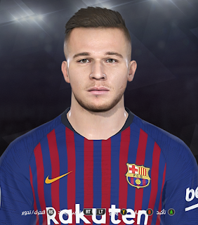 PES 2018 Faces Arthur by Prince Hamiz