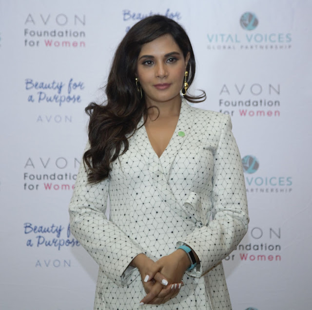 Actress Richa Chadha at The Justice Institute by the Avon Foundation for Women