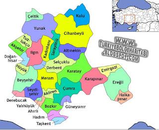 Image result for konya haritası