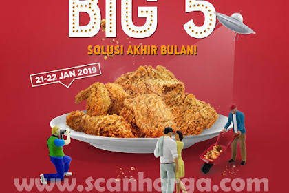 Promo KFC Big 5 Harga 5 Pcs Ayam Rp 59.091 Solusi Akhir Bulan