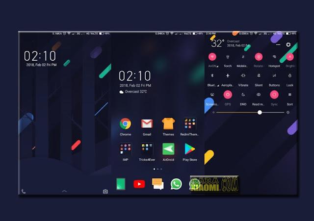 Xiaomi Redmi Theme eXtensible Mtz MIUI For Download New Look Design