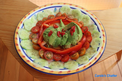 Carole's Chatter: A Symphony in Red & Green - A simple composed salad