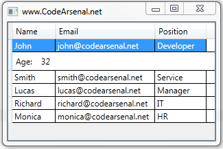 WPF DataGrid RowDetailsTemplate - Code Arsenal