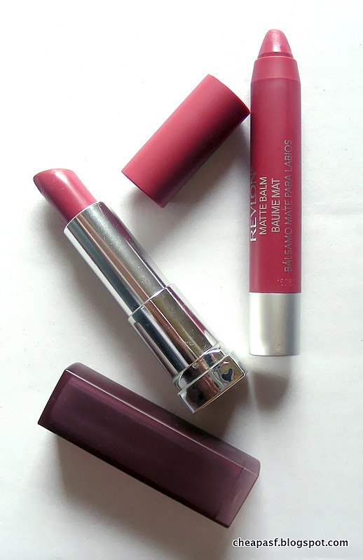 Revlon Matte Balm in Sultry vs. Maybelline Creamy Matte Lipstick in Touch of Spice