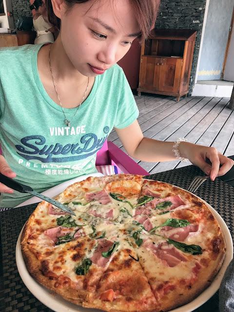 環遊世界|大溪地|Te Ava Restaurant @Bora Bora艾美酒店 披薩 Pizza