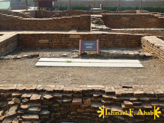 The former place of the altar in the Portuguese Village in Ayutthaya Historical Park