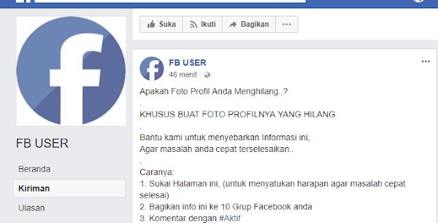 Photo Profil Facebook Tidak Muncul akan di Blokir