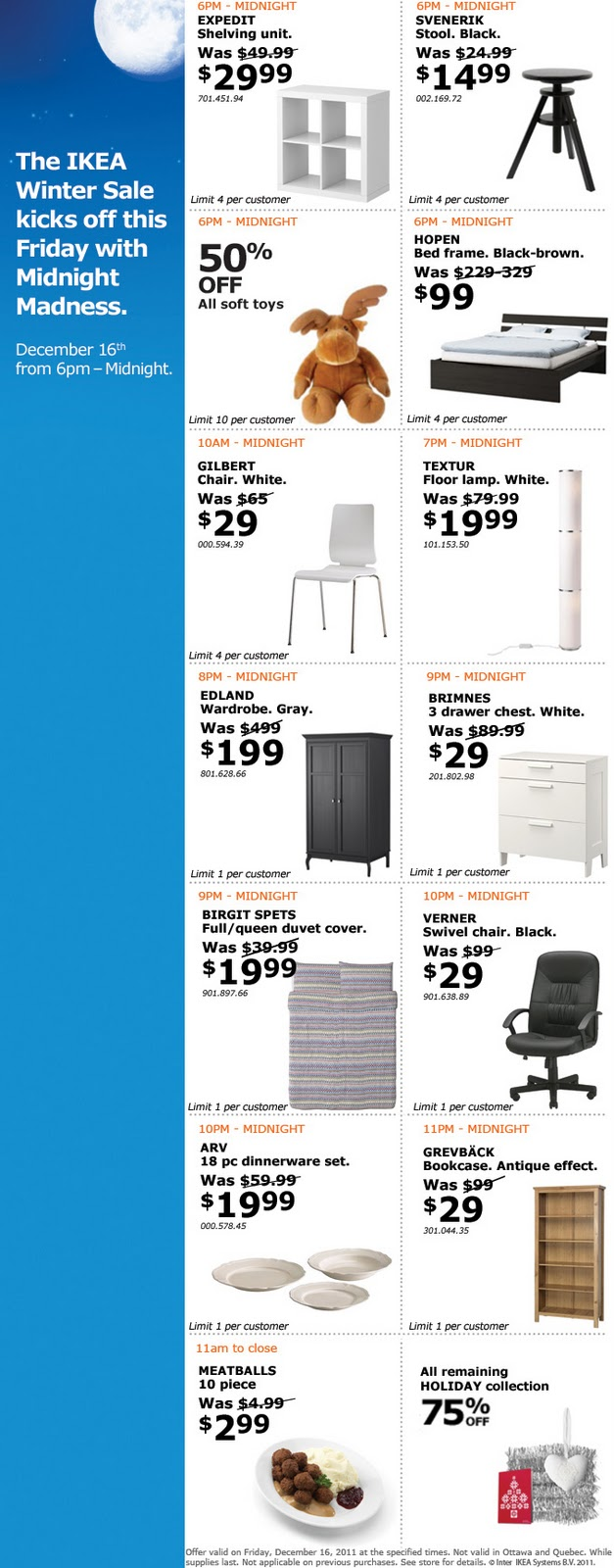 Ikea winter sale