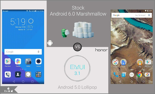 Android 6.0 Vs Emotion UI 3.1