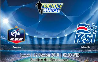 Prediksi France vs Iceland 12 Oktober 2018