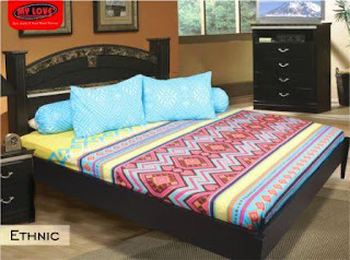 sprei my love motif ethnic