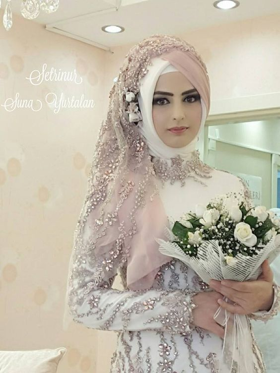 Bride chic haute chic hijabs for Wedding dress arabic style